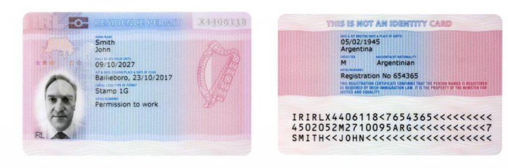 IRP Irlanda novo GNIB