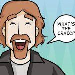 Ilustração homem falando expressão irlandesa